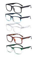 Eyekepper 5 Pack Reading Glasses Stylish Reader Spring Hinge with Clear Lens