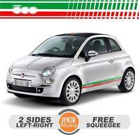 Fits Fiat 500 Abarth Vinyl Racing Stripe Decal Sticker 21-005