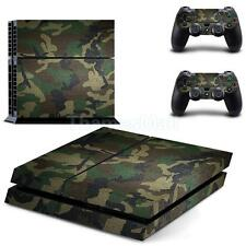 Camo Skin Sticker Cover For PS4 Playstation 4 Console + Controller Decal