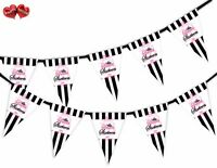 Sweet 16 Stripes Pattern Bunting Banner 15 flags by Party Decor