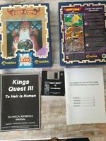 "King's Quest III To Heir is Human PC MS-DOS 3.5""  Disks Big Box"