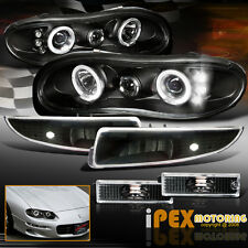 [6-PIECE] 1998-2002 Chevy Camaro Halo Projector Z28 LED Headlights +Signal Light