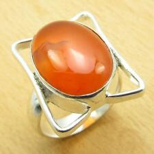 CARNELIAN Collectible Stone, 925 Silver Overlay Ring Size US 6 CHARMING NEW
