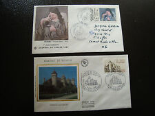 FRANCE - 2 enveloppes 1er jour 1982 (chateau ripaille-journ timbr) (cy18) french