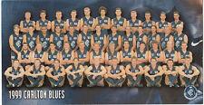 Australian rules football Carlton Blues 1999 brochure photograph 23cm x 12cm