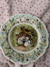 Jill Barklem 1989 Plate Royal Dalton Brambly Hedge The Engagement