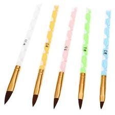 5pzs Polvo liquido Cepillo pluma de talla de gel UV arte de una de acrilico DIY