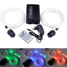 32W LED Remote Double Head Fiber Optic Star Ceiling Light Kit 800pcs*0.75mm*4m