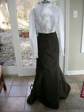 #128 Womans Long Brown Skirt Steampunk Victorian Dickens Costume Med Tall