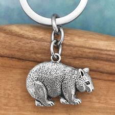 Wombat Souvenir Pewter Keyring Keychain Australiana Gift, Australian Made