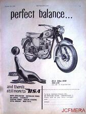 1959 Motor Cycle ADVERT - B.S.A. '250cc Star' (£168) Print AD (Seal)