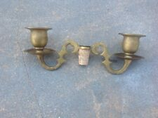 Vintage Brass Wine Bottle Cork Candle Holder ~