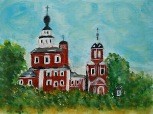 The Orthodox Church Hand Painted Acrylic Painting on Canvas Panel Religious Art
