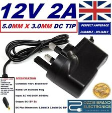 More details for compatible with bt youview humax dtr t2100 box power adapter plug uk mains 12v