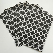 50pcs Paper Bag Black Flower Pattern For Biscuit Birthday Party Decoration
