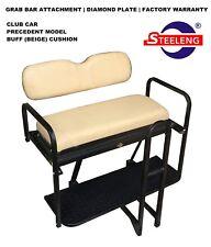 Rear Flip seat kit for Club Car Golf Cart Precedent model (Buff) w/t Grab Bar