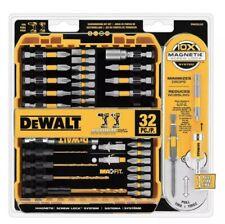 Dewalt 32 Pc Magnetic Impact Drill Screwdriver Bit Lock Set Kit *New*