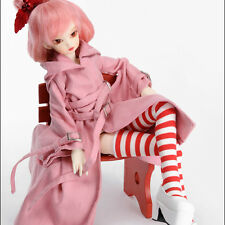 Dollmore 1/4 BJD doll clothes MSD SIZE - Long Buckle Chap Coat (Pink)