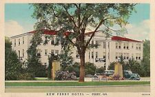 New Perry Hotel in Perry GA Postcard 1941