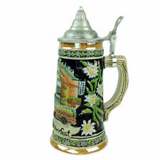 Munchen Oktoberfest Beer Stein with metal lid