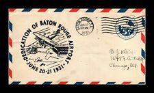 DR JIM STAMPS US BATON ROUGE LOUISIANA AIRPORT DEDICATION AIRMAIL COVER