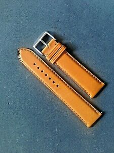 New Classic quality crafted oiled matt leather watch strap for Hamilton watches.
