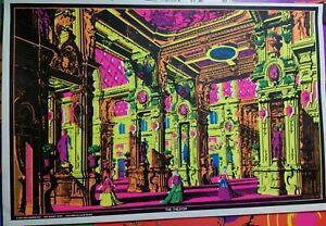 THE THEATER 1970 VINTAGE BLACKLIGHT NOS POSTER By Dick Dagres Dist. -NICE!