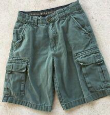 Boys 12 youth Bsa cargo uniform shorts olive green Boy Scouts canvas pocket logo