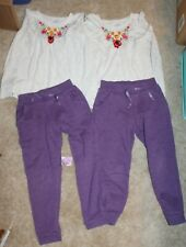 Twin Girl 4-piece lot * Jumping Beans Girls' Sz 5 Long-Sleeved Outfits - Euc