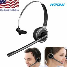 Trucker Driver Over The Head Boom Wireless Bluetooth Headset Mic Noise-Canceling