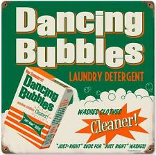Vintage Retro Dancing Bubbles Laundry Room Detergent Unique Metal Sign RPC100