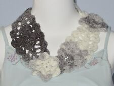 New Handmade Crochet Gray Soft Acrylic Stylish Neck Warmer Scarf or Headband