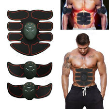 EMS Trainer Abdominal Toning Muscle Toner Gym Abs Smart Fitness Belt Batteries C