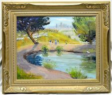 "Don Crocker '05 Estate Vintage ""Debs Park"" Los Angeles Oil Painting on Panel"