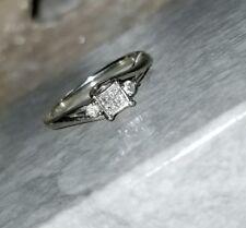 Kay Jewelers 10k White gold Quad Diamond pre promise Engagement ring