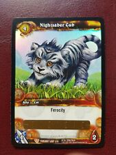 WORLD OF WARCRAFT WOW TCG - NIGHTSABER CUB Pet Loot Card - NEW UNSCRATCHED!