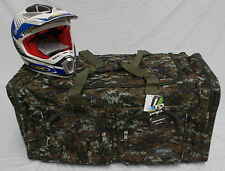 XL Motorcycle atv gear bag motocross off road snowmoblile digital camo green