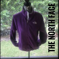The North Face Women's Size Medium Jacket Purple Logo On Front And Back
