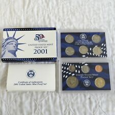USA 2001 10 COIN PROOF SET DOUBLE PACK  - sealed/outer/coa