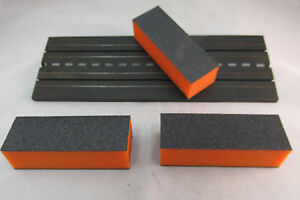 3 TRACK CLEANING BLOCKS ~ WORKS ON CARRERA, SCALEXTRIC, STROMBECKER, & OTHERS