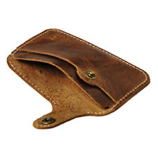 Brown Leather Card Case Minimalist Wallets Card Holder Front Pocket Wallet