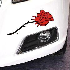 Red flower car sticker Bumper Van Window Laptop JDW VINYL Decals Rose Stickers
