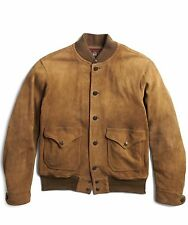 $2400 RRL Ralph Lauren 1930s Deerskin American Leather Suede Jacket Coat-MEN-S