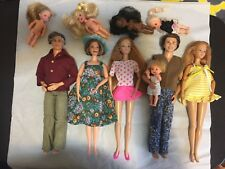 Barbie Happy Family Grandpa, Grandma, Alan, Midge, + 5 Toddler Dolls 10 Doll Lot