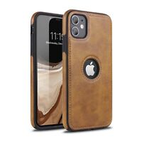 iPhone Leder Schutzhülle Hülle Case Tasche X XS XR 11 12 Pro Max Mini BRAUN
