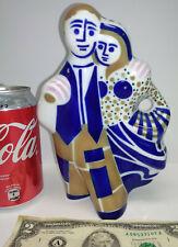 VINTAGE MID CENTURY SARGADELOS R.P. PORCELAIN ART GROUP MAN AND WOMAN COUPLE HUG