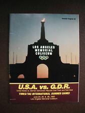 1983 U.S.A. Vs. G. D. R. Track and Field Meet Los Angeles Coliseum