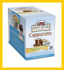 Grove Square Cappuccino French Vanilla 24 K-cups for Keurig