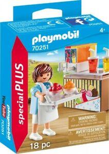 PLAYMOBIL Special Plus 70251 Slush-Ice Verkäufer Eismaschine Theke Eis NEU