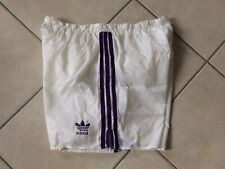 NEU Adidas Vintage Glanz Short 9 Weiß Shiny Sprinter XL XXL Shorts Poly